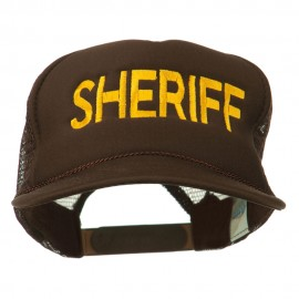 Sheriff Embroidered Foam Front Mesh Back Cap