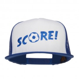 Soccer Score Embroidered Classic Trucker Cap