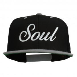 Soul Embroidered Snapback Cap