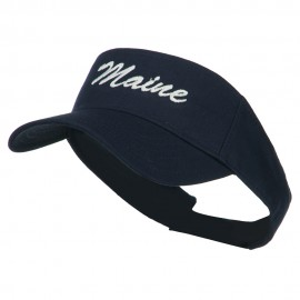 Maine State Embroidered Sun Visor