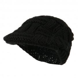Solid Tangle Knit Ivy - Black