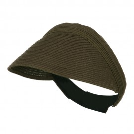 UPF 50+ Solid Toyo Paper Braid Adjustable Visor