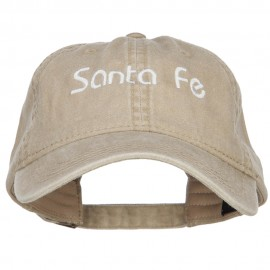 Santa Fe Embroidered Washed Cap