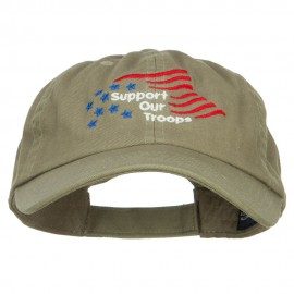 Support Our Troops Embroidered Low Cap