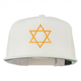 Star of David Embroidered Flat Bill Cap