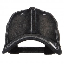 Stone Washed Denim Cap - Black