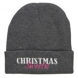 Christmas Sweetie Embroidered Long Beanie