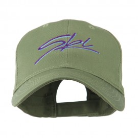 Ski Wording in Cursive Embroidered Cap