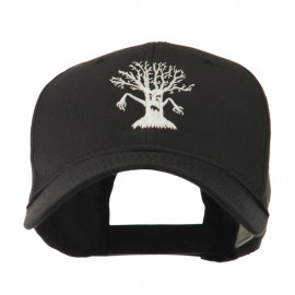 Spooky Halloween Tree Embroidered Cap