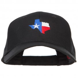 Texas Flag Map Embroidered Cotton Twill Cap