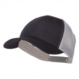 Constructed Twill Mesh Trucker Cap - Black Grey