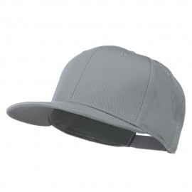 Superior Cotton Twill Flat Bill Snapback Prostyle Cap - Grey