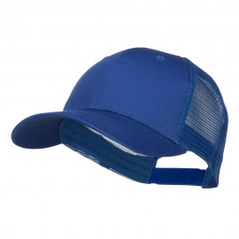 Constructed Twill Mesh Trucker Cap - Royal