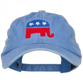 Republican Elephant USA Embroidered Dyed Unstructured Cap