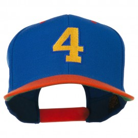 Athletic Number 4 Embroidered Classic Two Tone Cap