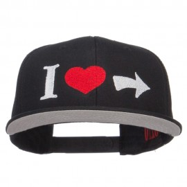 I Heart Right Embroidered Cotton Snapback