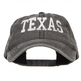 Texas Embroidered Washed Cap
