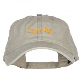 Team Dad Letters Embroidered Washed Cap