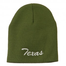 Texas Embroidered Short Beanie