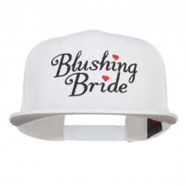 Blushing Bride Embroidered Cotton Snapback