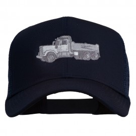 Truck Embroidered Mesh Back Twill Snapback Cap