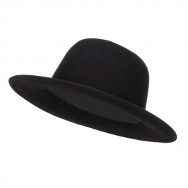 Women's Tall Crown Wool Bowler Hat