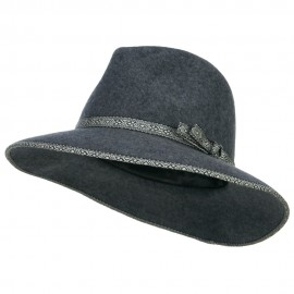 Women's Tribal Trim Wool Fedora