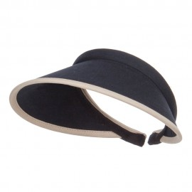 Trim Brushed Cotton Clip On Visor