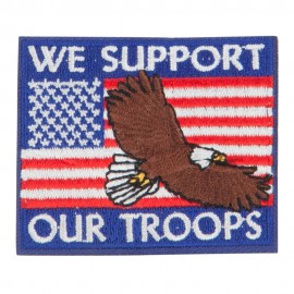 USA Support Troops Flag Patches