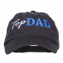 Top Dad Letters Embroidered Low Profile Cap