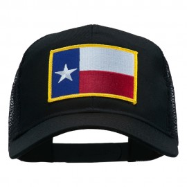 Texas State Flag Patched Mesh Cap - Black