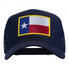 Texas State Flag Patched Mesh Cap - Navy