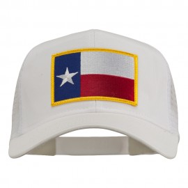 Texas State Flag Patched Mesh Cap - White