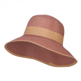 Two Tone Downturned Brim Bucket Hat