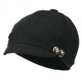 2 Silver Button Cabbie Cap