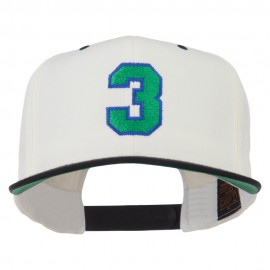 Athletic Number 3 Embroidered Classic Two Tone Cap