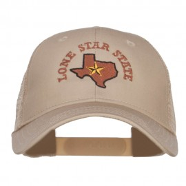 Texas Lone Star State Embroidered Trucker Cap