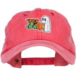 Halloween Trick or Treat Patched Unstructured Cap