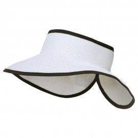 UPF50+ Tweed Roll Up Visor - White Black