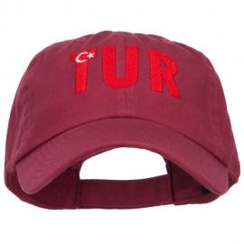 Turkey TUR Flag Embroidered Low Profile Cap