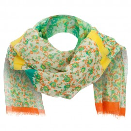 Two Tone Floral Summer Scarf