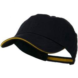 Low Profile Cotton Twill Cap - Navy Gold