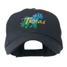 USA State Flower Texas Bluebonnet Embroidered Cap