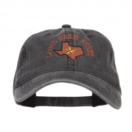 Texas Lone Star State Embroidered Cap - Black