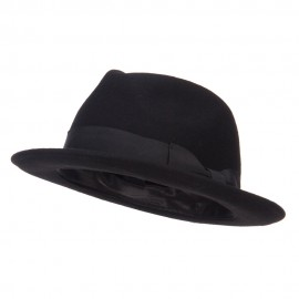 Men's Wool Felt Upbrim Fedora - Black
