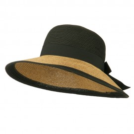 UPF 50+ Wide Brim Grosgrain Ribbon Sun Hat