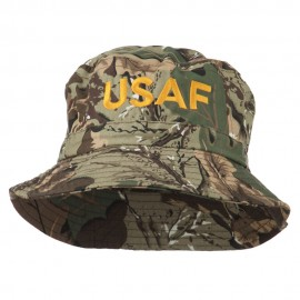 US Air Force Embroidered Pigment Dyed Bucket Hat - Camo