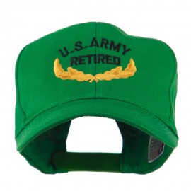 US Army Retired Emblem Embroidered Cap - Kelly