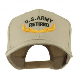 US Army Retired Emblem Embroidered Cap - Khaki