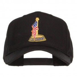 USA Flag Ceremony Patched Cap